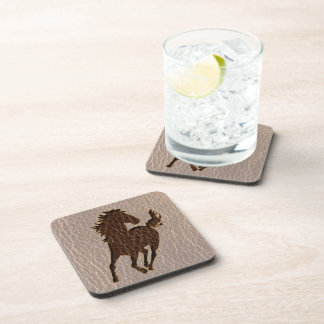 Leather-Look Horse Soft Coaster