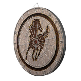 Leather-Look Horse Soft Dartboard With Darts
