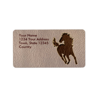 Leather-Look Horse Soft Label