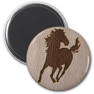 Leather-Look Horse Soft Magnet