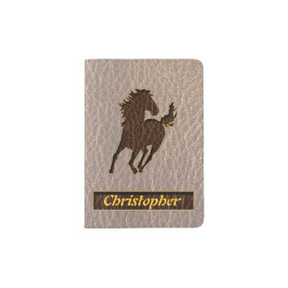 Leather-Look Horse Soft Passport Holder