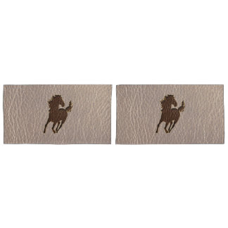 Leather-Look Horse Soft Pillowcase