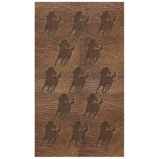 Leather-Look Horse Tablecloth