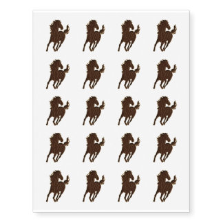 Leather-Look Horse Temporary Tattoos