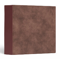 Leather Look In Chocolate Brown 3 Ring Binder
