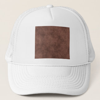 Leather Look In Chocolate Brown Trucker Hat
