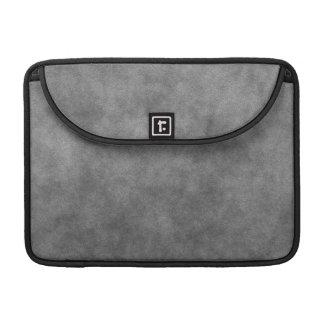 Leather Look In Slate Gray MacBook Pro Sleeves