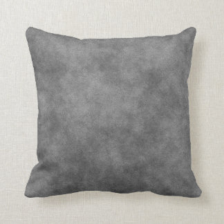 Leather Look In Slate Gray Throw Pillow