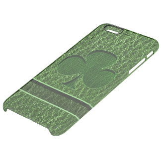 Leather-Look Irish Clover Clear iPhone 6 Plus Case