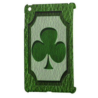 Leather-Look Irish Clover Cover For The iPad Mini