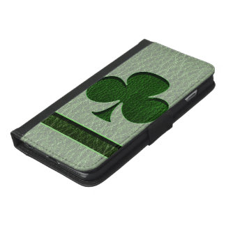 Leather-Look Irish Clover iPhone 6/6s Plus Wallet Case