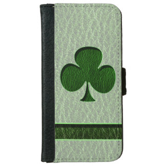 Leather-Look Irish Clover iPhone 6/6s Wallet Case