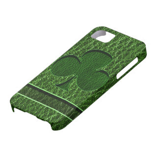 Leather-Look Irish Clover iPhone SE/5/5s Case