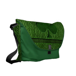 Leather-Look Irish Clover Messenger Bag