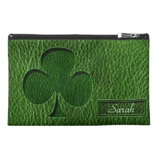 Leather-Look Irish Clover Travel Accessory Bag