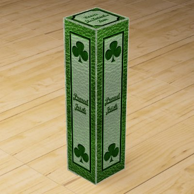 Leather-Look Irish Clover Wine Boxes