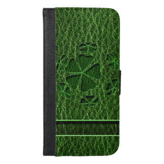 Leather-Look Irish CloverBall iPhone 6/6s Plus Wallet Case