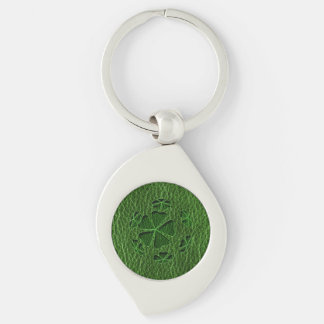 Leather-Look Irish CloverBall Keychain