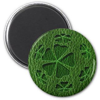Leather-Look Irish CloverBall Fridge Magnet