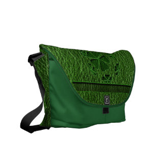 Leather-Look Irish CloverBall Messenger Bag