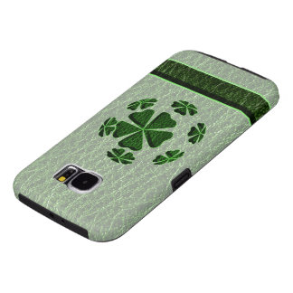 Leather-Look Irish CloverBall Samsung Galaxy S6 Case