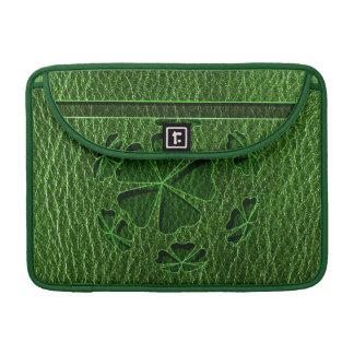 Leather-Look Irish CloverBall Sleeve For MacBooks