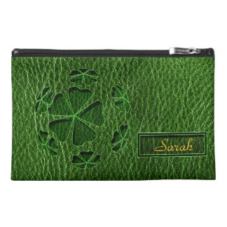 Leather-Look Irish CloverBall Travel Accessory Bag
