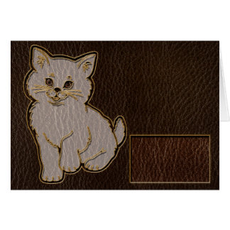 Leather-Look Kitten Dark Card