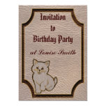 Leather-Look Kitten Soft 5x7 Paper Invitation Card