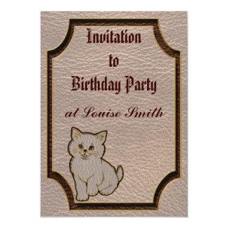 Leather-Look Kitten Soft Card