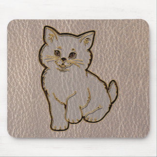 Leather-Look Kitten Soft Mouse Pad