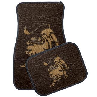 Leather-Look Leo Car Floor Mat