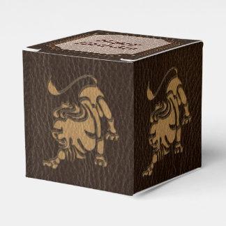 Leather-Look Leo Favor Box