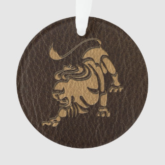 Leather-Look Leo Ornament