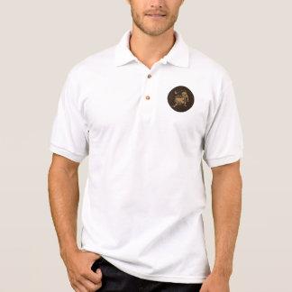Leather-Look Leo Polo Shirt