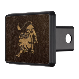 Leather-Look Leo Trailer Hitch Cover