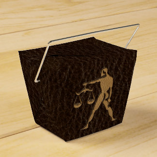 Leather-Look Libra Favor Box