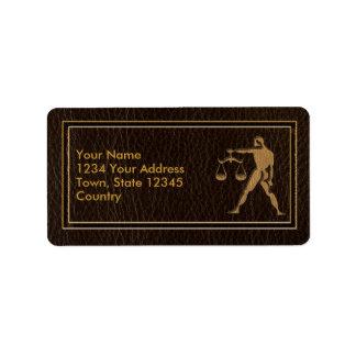 Leather-Look Libra Label