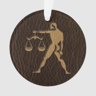 Leather-Look Libra Ornament