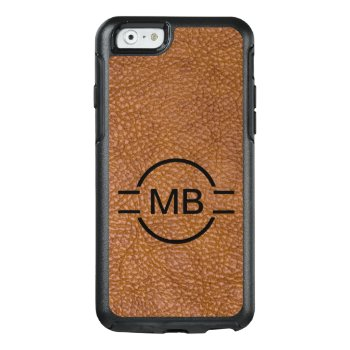 Leather Look Monogram Style Otterbox Iphone 6/6s Case by idesigncafe at Zazzle