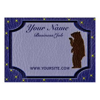 Leather-Look Native American Zodiac Brown Bear Business Card Templates
