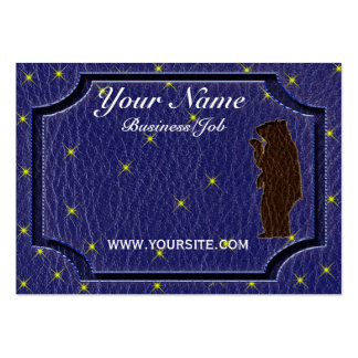Leather-Look Native American Zodiac Brown Bear Business Card Template