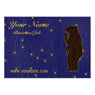 Leather-Look Native American Zodiac Brown Bear Business Card