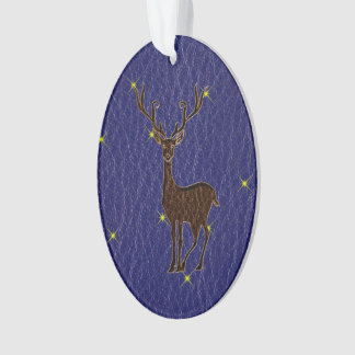 Leather-Look Native American Zodiac Deer