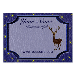 Leather-Look Native American Zodiac Deer Business Card