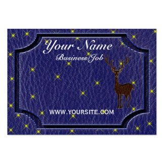 Leather-Look Native American Zodiac Deer Business Cards