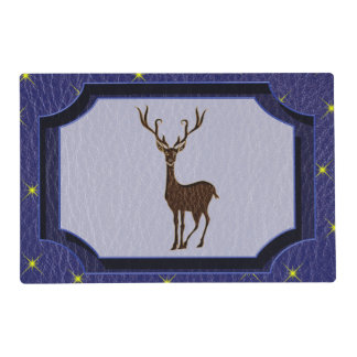 Leather-Look Native American Zodiac Deer Placemat
