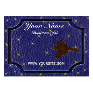 Leather-Look Native American Zodiac Falcon Business Card Templates