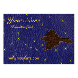 Leather-Look Native American Zodiac Falcon Business Cards