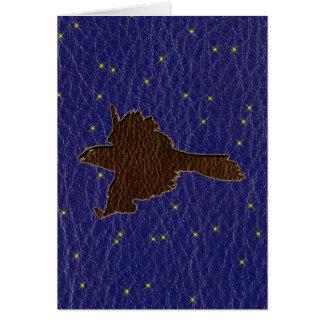 Leather-Look Native American Zodiac Falcon Cards